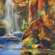 Judith Hoste - Katherine Gorge in Watercolour